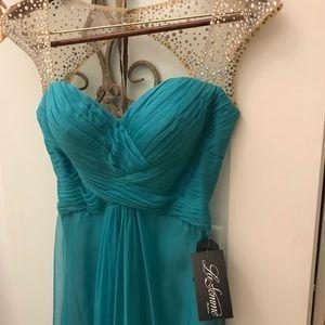 La Femme aqua gown